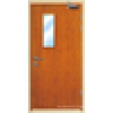 Wood fire rated door, interior or exterior wooden fire proof doors