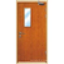 Portas blindadas de madeira, portas internas ou externas de fogo à prova de fogo