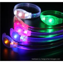 OEM Voice Control Shake LED Luminous Silicone Bracelet