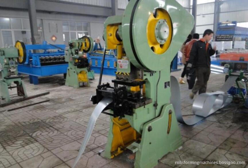 upright rack roll forming machine punching holes system
