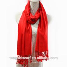 TS-014 Kleid Kinder Volltonfarbe Viskose Schal Schal für Frau Hijab Fabrik Lieferant