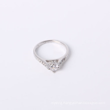Brass Materials Simple Style Jewelry Ring Rhodium Plated with CZ and Rhinestone