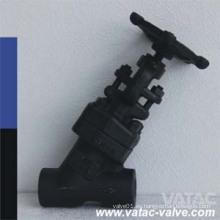 API602 de acero forjado tipo Y válvula de globo
