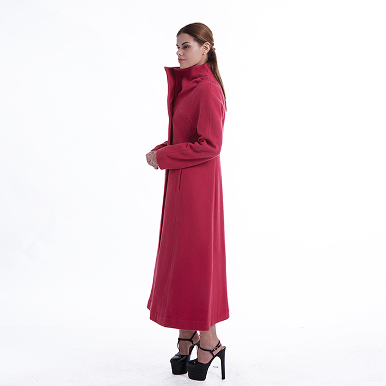 Ladies Gules Long Cashmere Coat