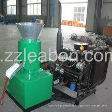 Pelletizer à bois moulé à moteur à moteur diesel