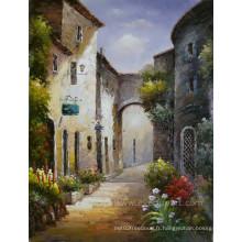 Paysage peintures méditerranéennes sur toile