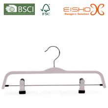 Белая ламинированная вешалка с клипсами (pH027)