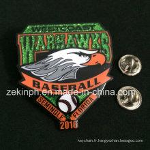 Métal Souvenir Pas cher Oiseaux Animal Métal Glitter Badge
