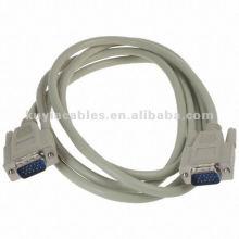 Cable de extensión estándar SVGA VGA Cable de monitor DB M / M 1,5 m