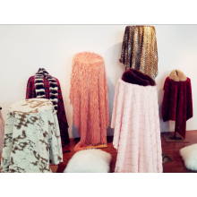 Best Price for for Long Hair Faux Fur Jacquard Five Colors Faux Fur supply to Latvia Factory