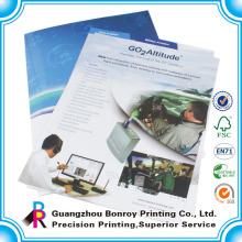 Customized a4 Größe faltbare Büttenpapier Aktenordner