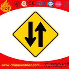 Panneau de signe d'émail coupe-vent / panneau de signalisation d'avertissement de trafic d'émail