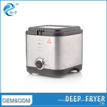 1.5L Stainless Steel With Timer Visual Window 304 Basket 900W Mini Electric Deep Fryer