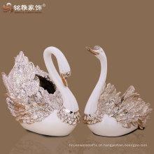 casa moderna decorativa rosa ouro casal vaso de flor de cisne