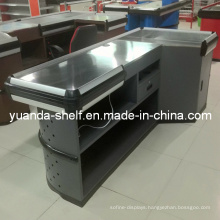 Steel Supermarket Cashier Checkout Counter for Sale