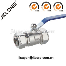 274 Nickel plated Brass ball valve with compression end