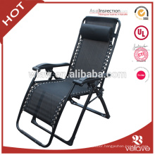 Outdoor patio deluxe folding zero gravity chair with pillow
