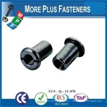 Fabriqué à Taiwan Tête à lame hexagonale Tête Pan Machine à rondelle Tête Tête Tête Hex Socket Slotted Joint Furniture Connector Nut