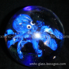Christmas Glass, Crystal Ornament, Craft Gift
