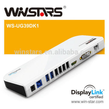 USB3.0 Multi-task Universal Docking Station with Hot pluggable function