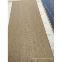 Escudo de madeira maciça escovado delicado do parquet do parquet da cinza de 3 camadas