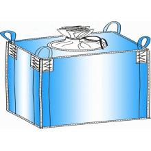 Saco de tecido tecido PP, 4 alças de fundo plano, saco Jumbo, saco a granel, saco tecido PP