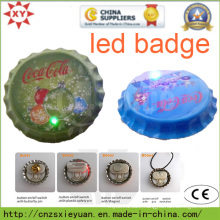 New Carfts Bottle Cap LED Button Pin Badge with Custom Logo