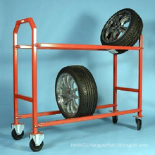 4s Auto Store Warehouse Wheels Tyre Hand Roll Pallet Cart