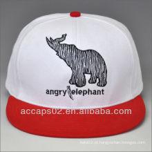 100% algodão snapback cap