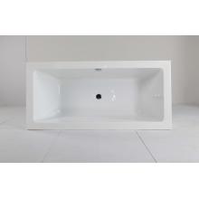 Quadratische Acryl-Badewanne für den Innenbereich