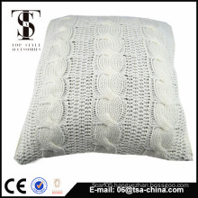 Plain color 100% acrylic knitted soft warm latest design cushion cover
