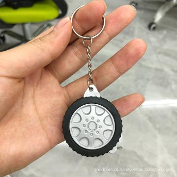 Fita métrica de aço em formato de pneu 1M