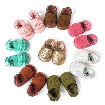 Sapatas das sandálias das meninas da sola macia infantil da criança recém-nascida do bebê