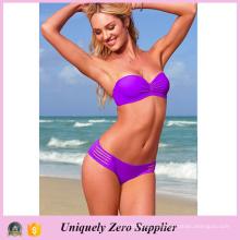 Женщины Горячие Multi Stripes Стиль сплошной цвет Купальники Сексуальный Tankinis бикини