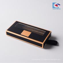 Personnalisé noir luxe cils cils cheveux extension papier cadeau boîtes à cils personnalisés boîte magnétique