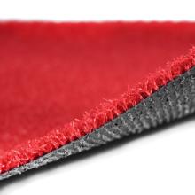 Césped artificial coloreado impermeable superior de la venta para la decoración que ajardina