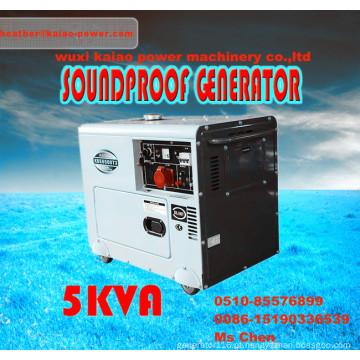 Gerador diesel silencioso portátil do preço baixo 5kw /5.5kVA