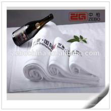 Hot vendendo liso tecido Bordado Atacado Banho de algodão do hotel