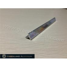 Brilhante Prata Alumínio T Forma Transição Tile Trim