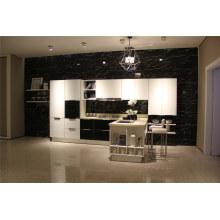 Gabinete de cocina de alta calidad de alto brillo con diseños modernos