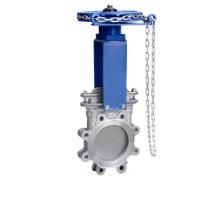Chainwheel exploité vanne à guillotine
