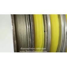 Electroplated diamond wire saw for Silicon Slicing
