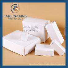 Boîte à cosmétiques en carton blanc uni