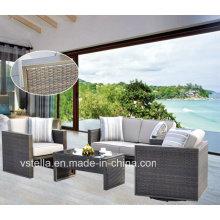 Garten Rattan Wicker Sektionale Outdoor Sofa Set