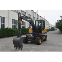 Fábrica directa de 8 toneladas de excavadora de ruedas para la venta