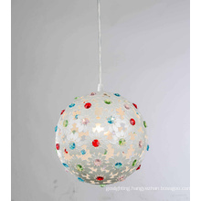 Colorful Crystal Iron Home Pendant Light (SD1120/1A)