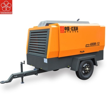 Portable diesel screw air compressor untuk sand blasting