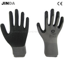 13 Gauge Polyester Shell Latex Crinkle Coated Industrial Labor Protective Work Gloves (LS205)