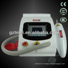 Équipement laser médical q changement de tatouage au laser (OEM)