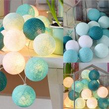 Batería coloreada bolas de algodón luz para navidad